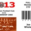 2013 Membership card for website