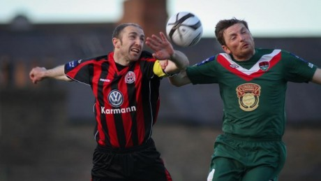 Owen Heary in action against Cork City - Photo by Eddie Lennon