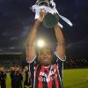 Joey Ndo celebrates 2009 EA Sports Cup final win
