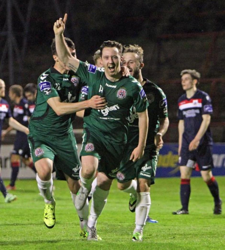 Paddy Kavanagh scores against Longford Town by A. Baldiemann