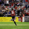 Kurtis Byrne celebrates against Wexford Youths by Martin Doherty