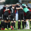 Bohemians huddle - by Martin Doherty