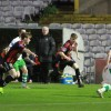 Dean Casey and Parry Kirk on attack - by A. Baldiemann
