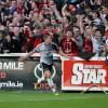 Oscar Brennan celebrates against St Pat's last season - A Baldiemann