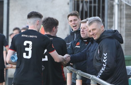 Bohs and St Kevin's backroom teams salute U15s