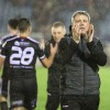 Keith Long applauds supporters down in Waterford - Pic A Baldiemann