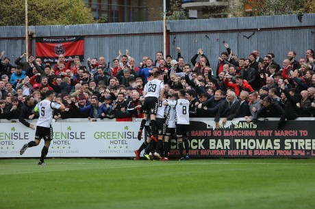Bohs fans celebrate in Richmond Park last year - Stephen Burke