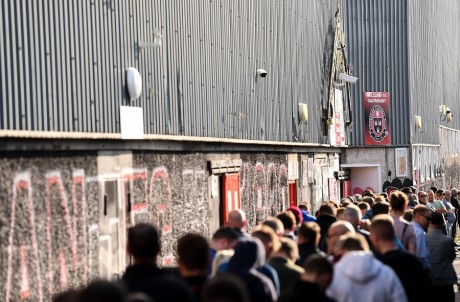 Bohemians supporters purchase tickets for their Extra.ie FAI Cup Semi-Final v Shamrock Rovers