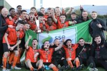 Bohs-SKB celebrate winning Mark Farren Cup - Stephen Burke