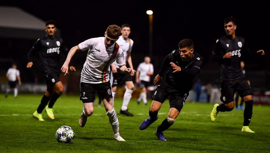 Ross Tierney in action in the first leg - Sportsfile