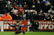 Jason Byrne celebrates - By Eddie Lennon