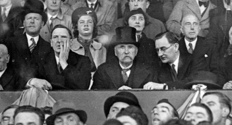 Joe Wickham top left with Eamon de Valera, Douglas Hyde and Oscar Traynor