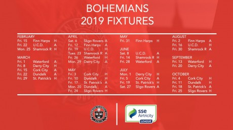 2019 fixtures
