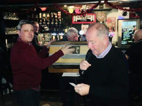 Keith Long and Paul Duffy at Saturday's draw