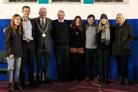 Radie Peat, Shane Supple, Lord Mayor Nial Ring, Governor Walsh, Dr Dana Walrath, Dr Ia Marder, Dr Laura Booi, Dr Sophia Carey - Photo by Kim