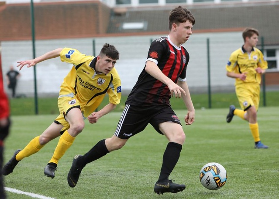 Bohs-SKB U17s in action against Longford - Stephen Burke