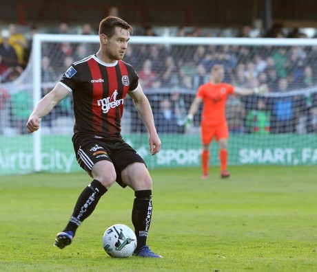 Michael Barker in action against Cork City - Stephen Burke
