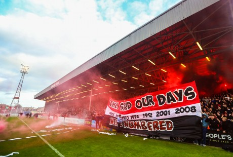 A view of a Bohemians banner 30/9/2018
