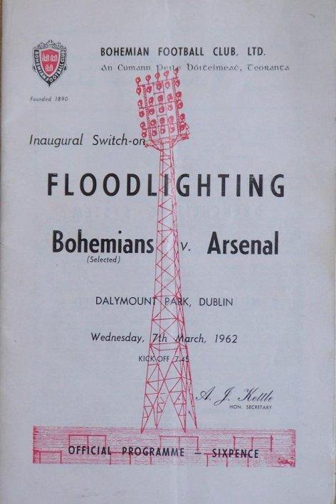 Bohs v Arsenal programme